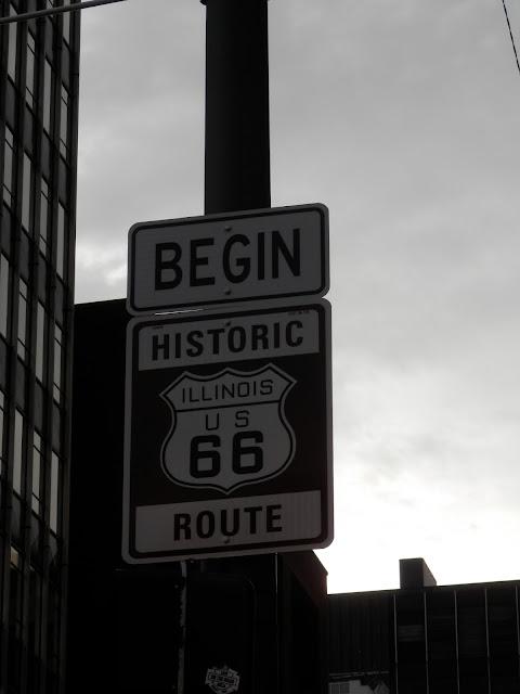 Panneau de la Route 66 à Chicago