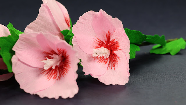 How to Make Paper Flowers Step by Step Tutorial Hollyhock Mallow Paper Flowers