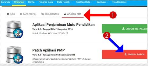 Cara Mudah Update Aplikasi PMP Versi 1.2 ke Versi 1.3 Tahun 2016