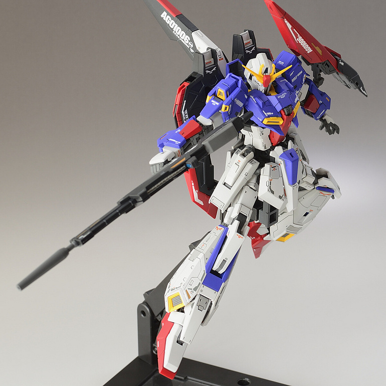 Custom Build: RG 1/144 MSZ-006 Zeta Gundam + Hyper Mega Launcher