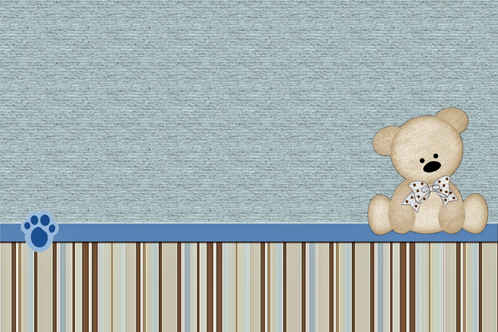 Teddy Bear Family, Free Printable  Labels.