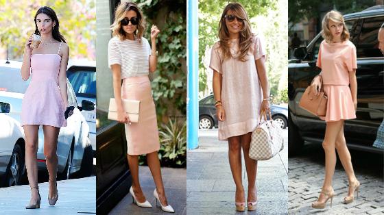 roupas rosa quartz vestido saia