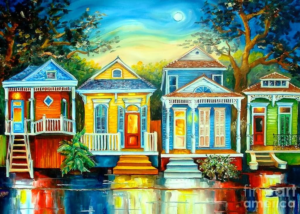 im u00e1genes arte pinturas  paisajes de casas  cuadros en