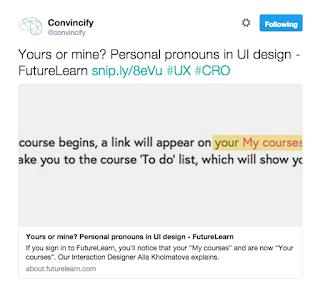 In UI web design words still matter