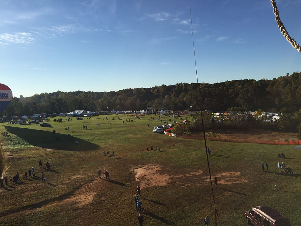 Early morning view from a Balloon at Carolina BalloonFest