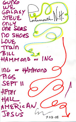 Roches set list, June 22, 2008
