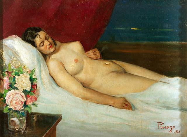 José Pinazo Martínez, Artistic nude, The naked in the art, Il nude in arte, Fine art, Painter José Pinazo Martínez
