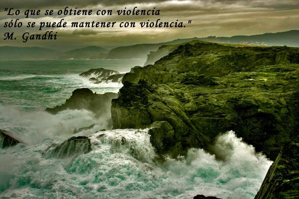 imágenes con frases de Gandhi, frases célebres, de amor, de violencia, de paz,