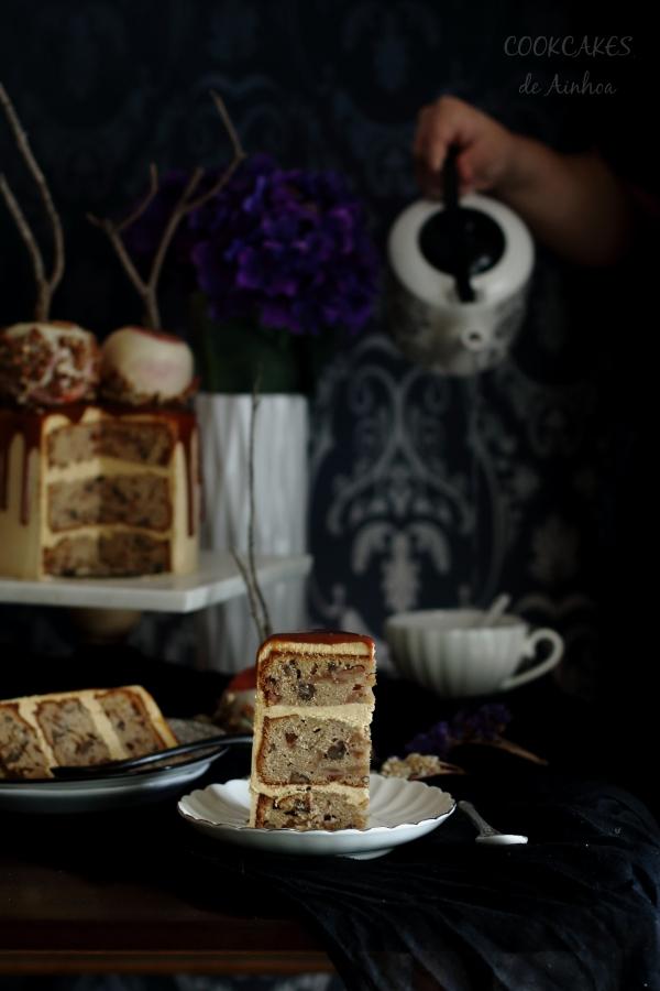 Layer Cake Manzana y Caramelo. Deliciosa Tarta Otoñal. Cookcakes de Ainhoa