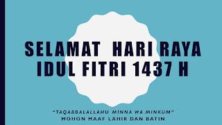 kumpulan ucapan hari raya idul fitri 1437 H / 2016 M