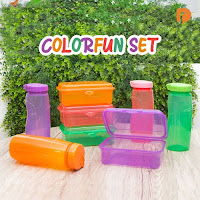 Dusdusan Colorfun Lunch Box and Bottle Set (Set of 2) ANDHIMIND