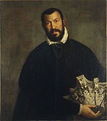 A portrait of  Vincenzo Scamozzi attributed to Paolo Veronese