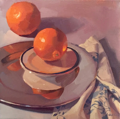 art painting still life oil on canvas by sarah sedwick oranges orange art