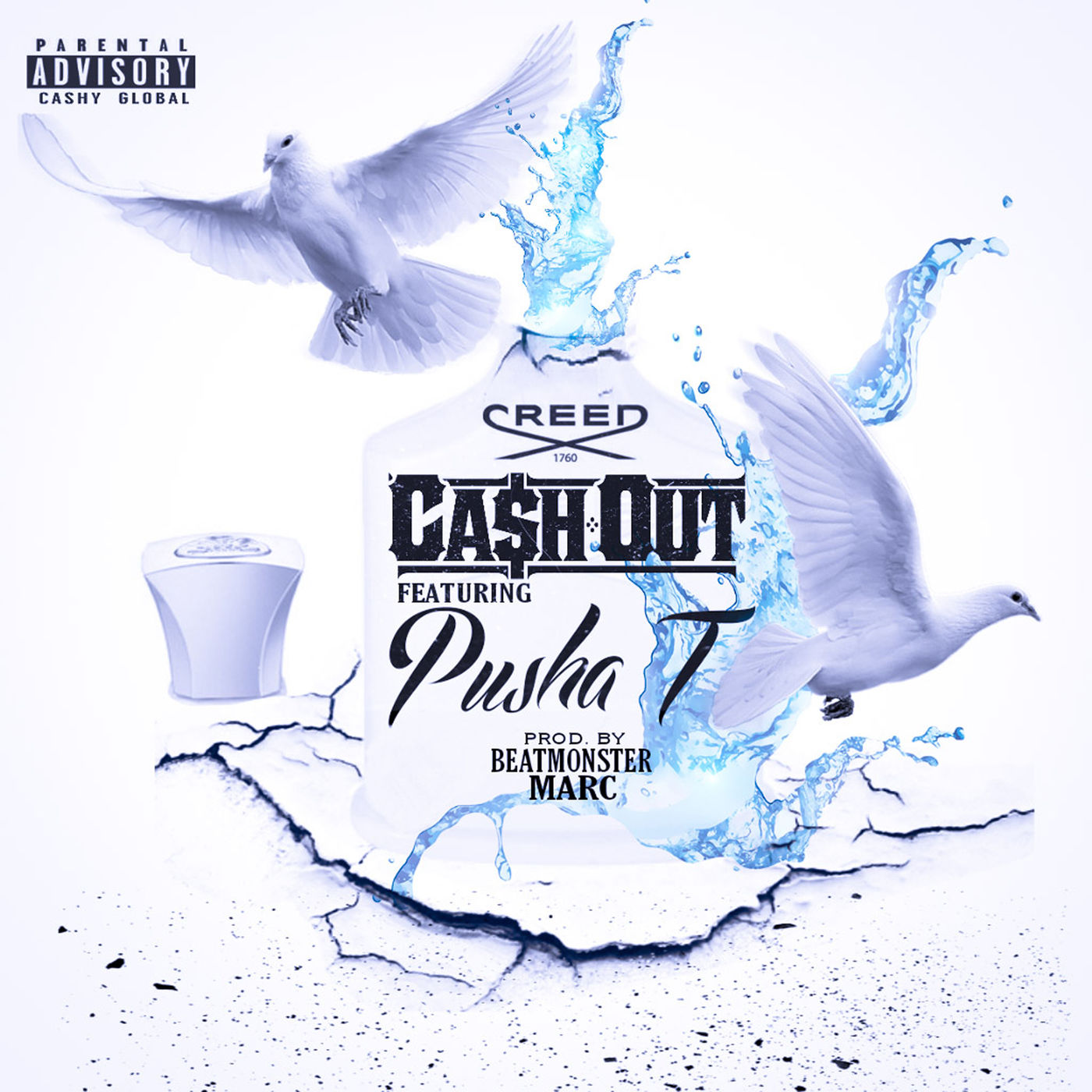 Ca$h Out - Creed (feat. Pusha T) - Single Cover