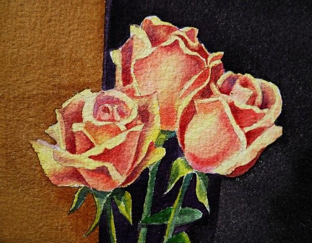 Цветы и цветочные натюрморты акварелью. Irina Sztukowski 7