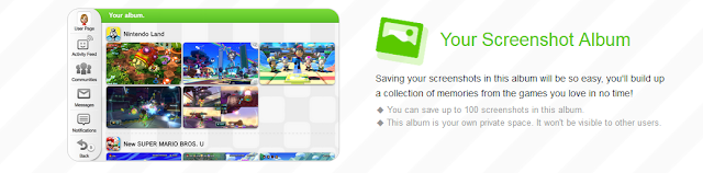 Miiverse redesign Your Screenshot Album
