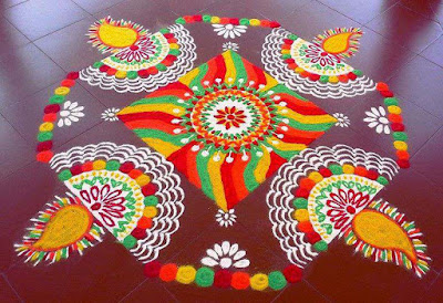 Best Happy New Year Rangoli Design