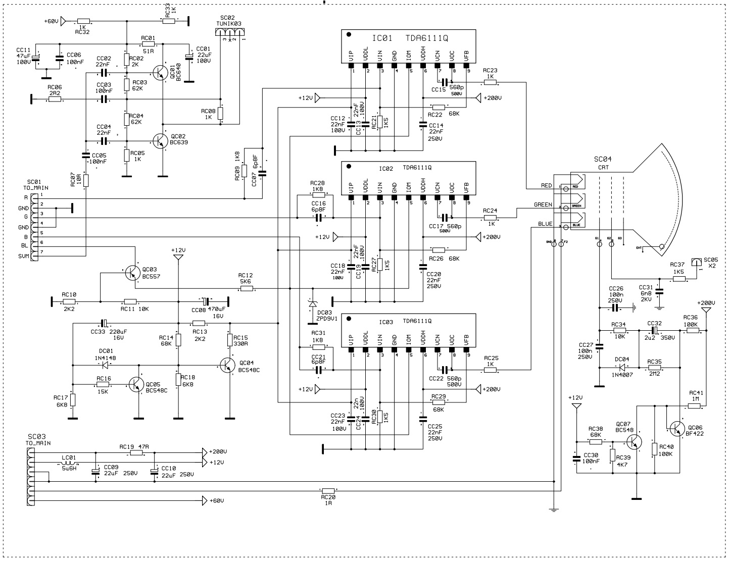 Schematic Diagrams: Profolio PT100 – 100Hz CTV