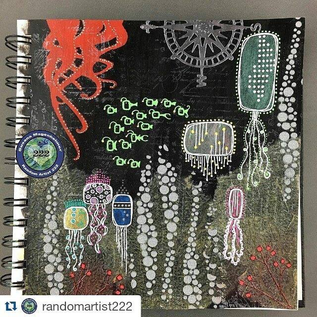 sea themed Art journal page from Susana Magenheimer