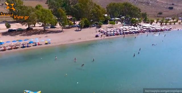 Ναύπλιο: Η παραλία Καραθώνας από ψηλά (drone βίντεο)
