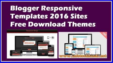 Blogger Responsive Templates 2016