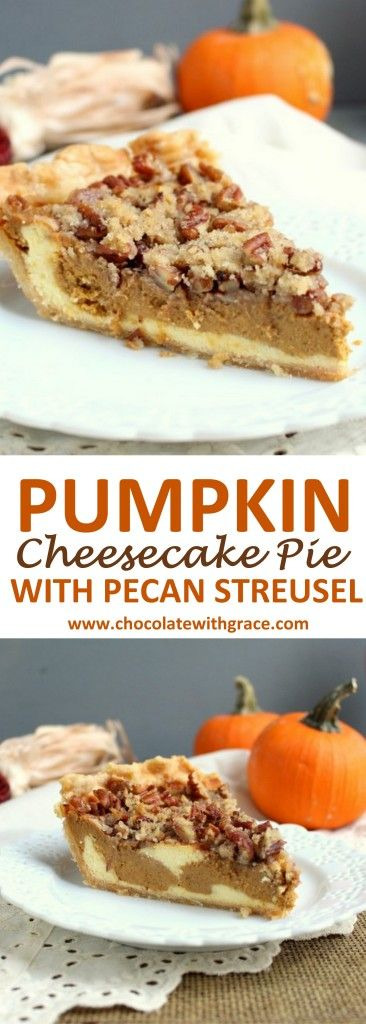 Pumpkin Cheesecake Pie with Streusel