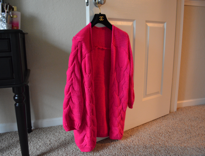 Oasap, Chic Solid Cable Cardigan, Knit Cardigan, Pink Cardigan, Floral Crop Top, Burlington, Burlington Coat Factory, Red Midi Skirt, Fashion Structured Pleated Skirt, Long-Sleeve Surplice Mini Dress, Asymmetric Bodycon Dress, Bodycon Dress, Asymmetric