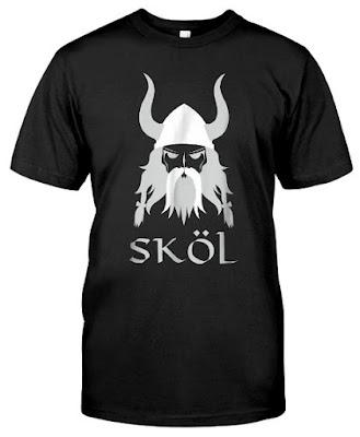 Skol Nordic Scandinavian Viking Warrior Helmet T Shirts Hoodie Sweatshirt