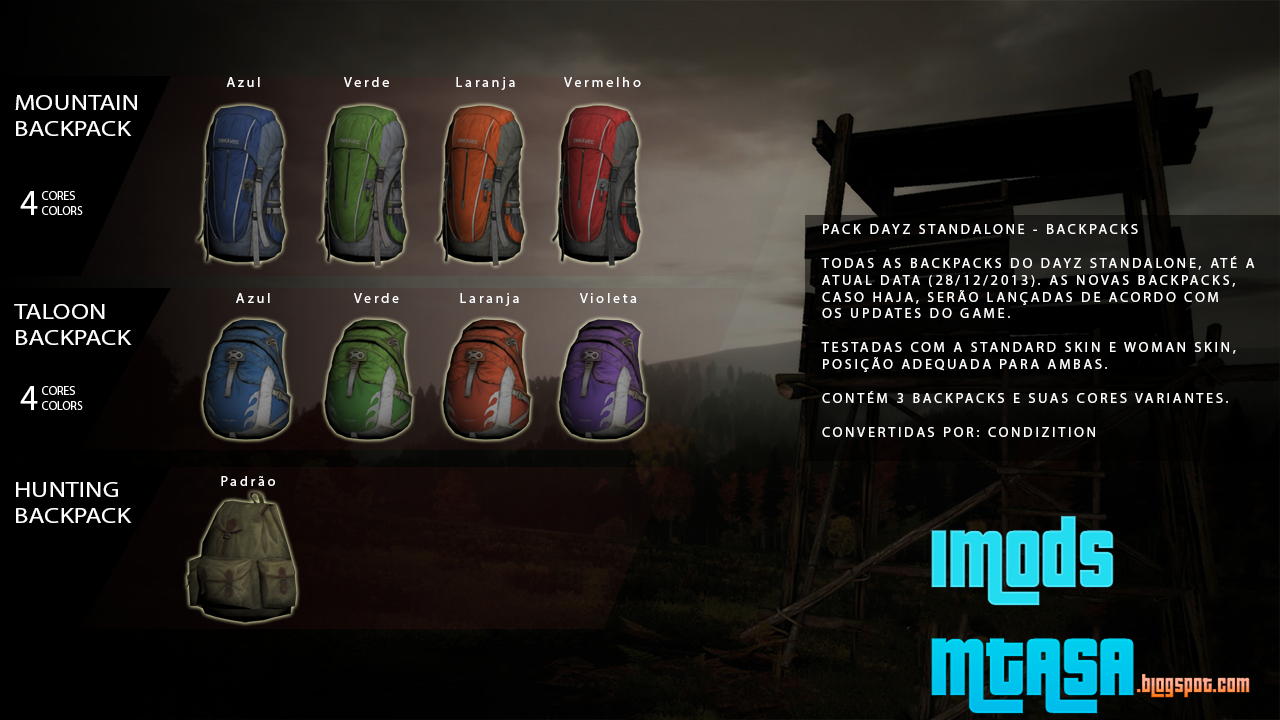 All Backpacks In Dayz  Perú Gustoso