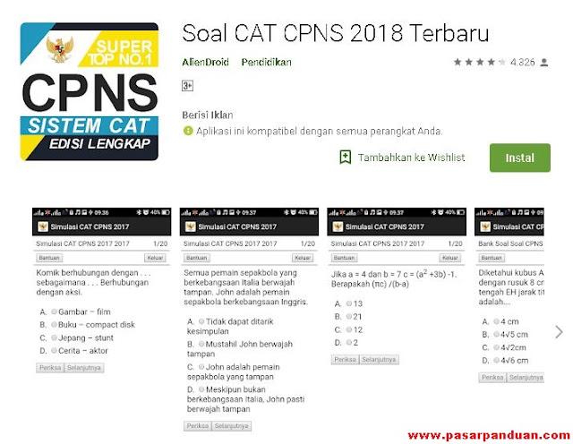 Aplikasi Android Simulasi Soal Ujian CAT CPNS