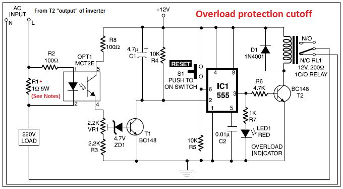 circuit diagram and electronic circuits projects  inverters