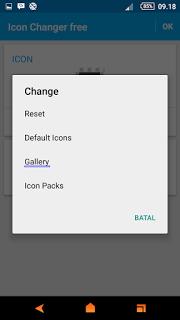 Trik Mengubah Icon Aplikasi Dengan Foto Sendiri di Android