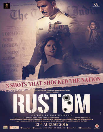 Poster Of Rustom 2016 Hindi 600MB DVDRip 720p ESubs HEVC Watch Online Free Download downloadhub.in