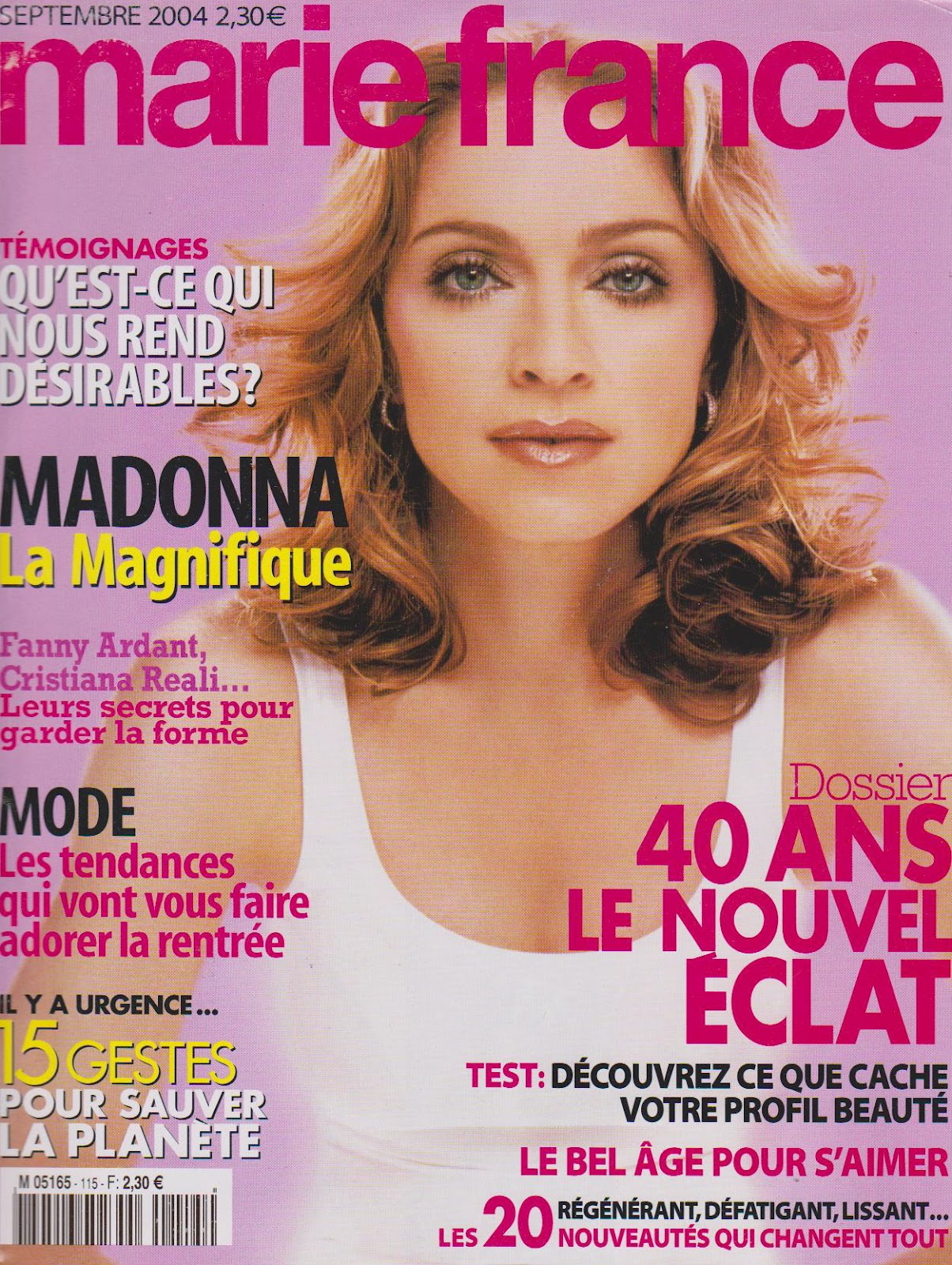 madmusic1 my madonna collection magazine marie france france september 2004. Black Bedroom Furniture Sets. Home Design Ideas