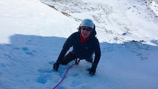 Winter climbing with Sean on Cnap Coire na Spreidhe