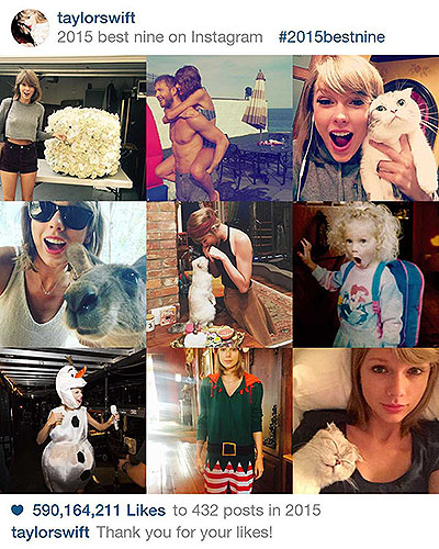 Taylor Swift Instagram 2015