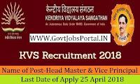 Kendriya Vidyalaya Sangathan Recruitment 2018– 5193 PGT, TGT, Head Master & Vice Principal