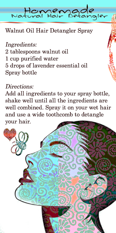 Homemade Natural Hair Detangler