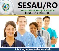 Apostila SESAU RO Técnico em Enfermagem - Concurso Secretaria de Saúde Rondônia - SESAU-RO.