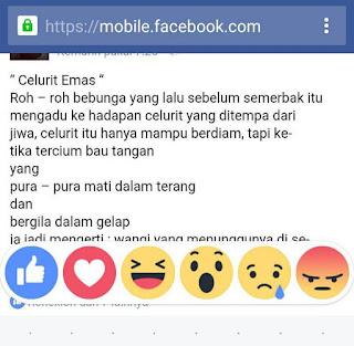 tombol reaksi facebook terbaru