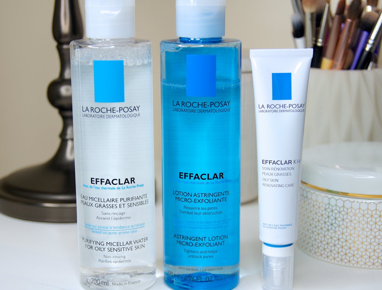 la roche posay effaclar skincare products purifying micellar water clarifying astringent lotion k+ corrective moisturiser review