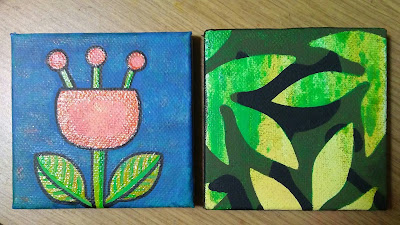 Mini paintings #107, 108