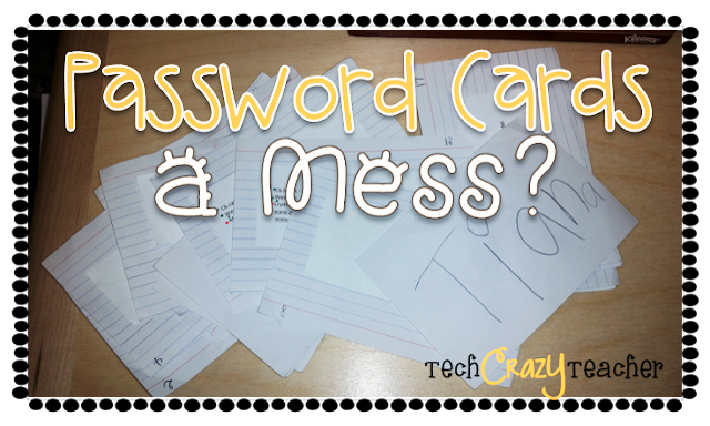 My students' password cards were a hot mess! They were never where they were supposed to be  and looked... well...like a frightful eyesore.  Here's what I did to put some class into my class passwords.