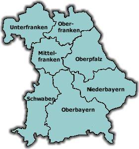 Deutschlandkarte Blog Bayern Karte Region Bild