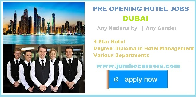 Job Location Dubai Nationality Any Gender Education Degree Or Diploma In Hotel Management Experience Similar Field