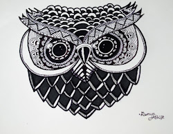 pen drawings easy zentangle sketches owl sketch marker pencil daily paintingvalley obsession materials