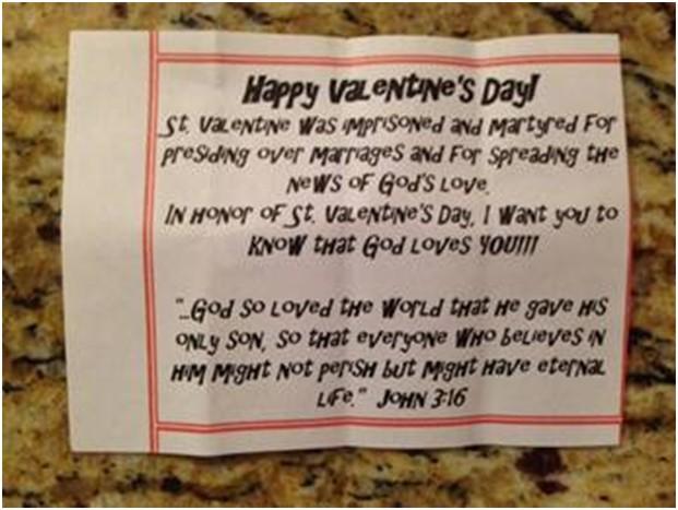 Valentine speech homework