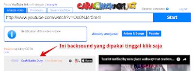 Hasil pencarian backsound youtube secara online