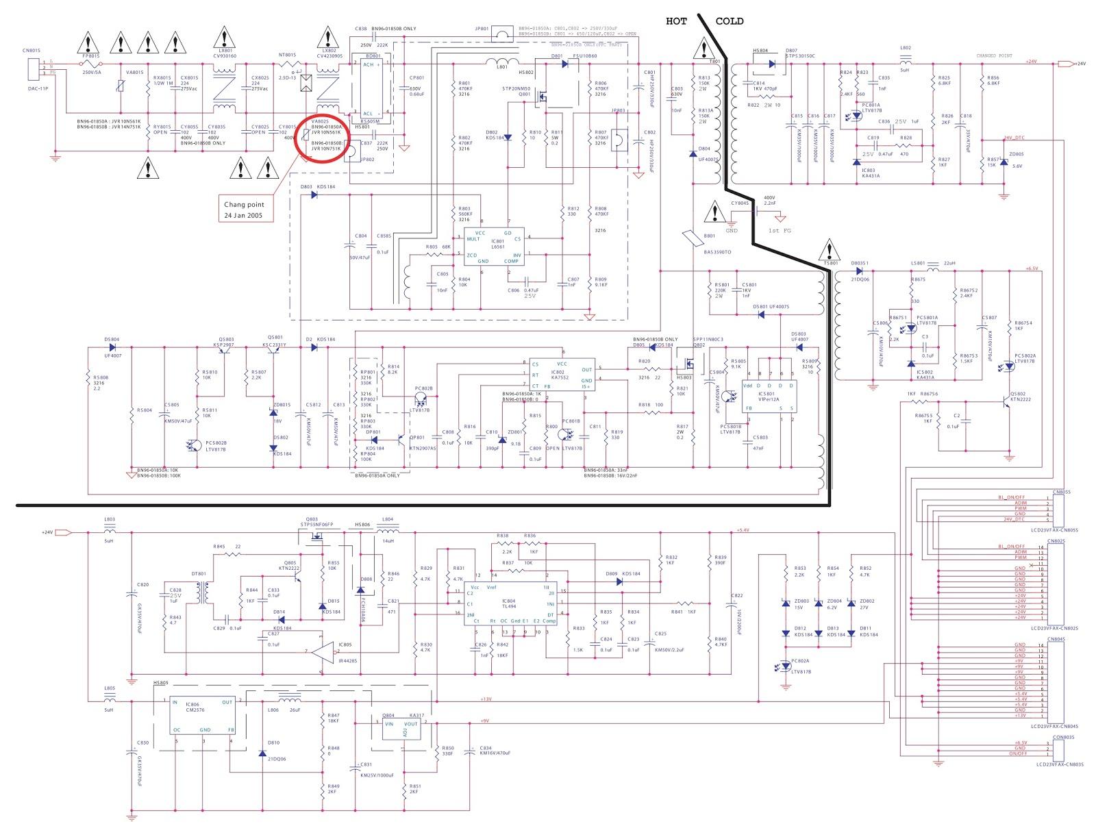 Monitor Wiring Samsung Schematic Gh19w