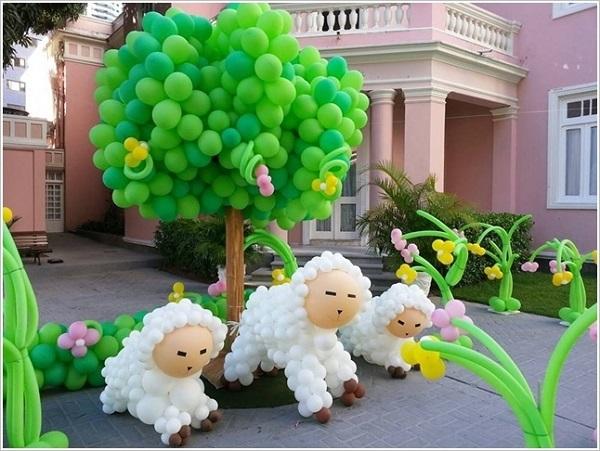 C mo adornar el patio con globos para fiesta - Como decorar un patio ...